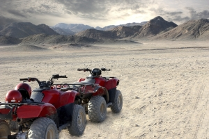 all-terrain vehicle and desert